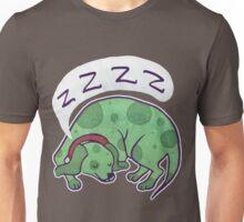 Sleepy Green Puppy T-shirt Unisex T-Shirt