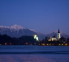 Frozen Lake Bled by Ian Middleton