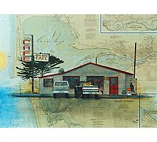 New Hope Cafe Nautical Chart Cathy Peek Art Photographic Print