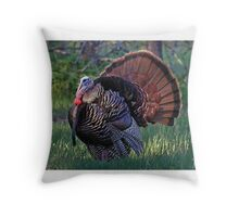 Tom Turkey - Wild Turkey Throw Pillow