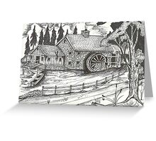 Waterwheel at Old Mill Greeting Card