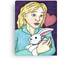 Gift of the White Rabbit Canvas Print