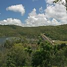 The Dam Wall and Lake by STHogan