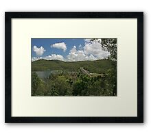 The Dam Wall and Lake Framed Print