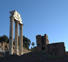 Temple of Castor and Pollux by Alfredo Estrella