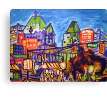 Shopping On Robson Canvas Print