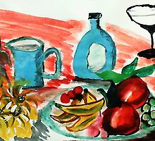 Ready to enjoy, watercolor by Anna  Lewis