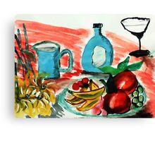 Ready to enjoy, watercolor Canvas Print