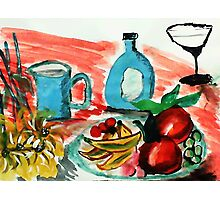 Ready to enjoy, watercolor Photographic Print