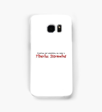 Critical Role - Tiberius Stormwind Quote Samsung Galaxy Case/Skin