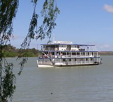 Old River Boat used for tourism on the River Murray, Sth Australia. by Rita Blom