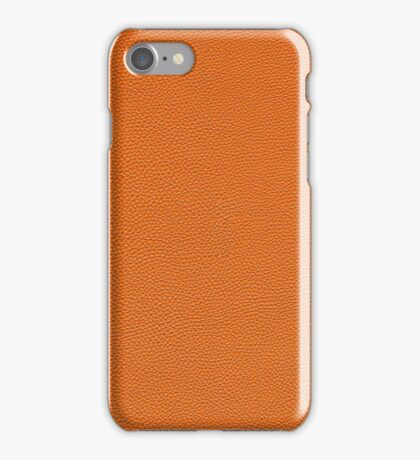 Orange Pebbled Leather Look iPhone Case/Skin