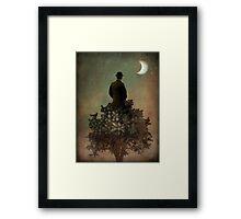 Man in tree Framed Print
