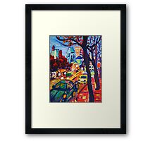 Rushing From Downtown Framed Print