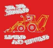Dig, Dig, Digging tractor construction graphic One Piece - Long Sleeve