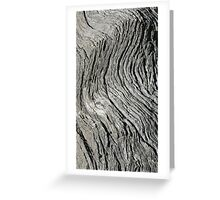 Wood Flow Greeting Card