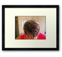 Pamela & Hair Framed Print