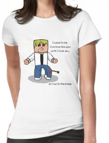 Arrow to the Knee... Womens Fitted T-Shirt