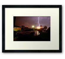 Lightning Crashes - Western Sydney Thunder Storm Framed Print