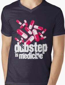 Dubstep is Medicine (dark)  Mens V-Neck T-Shirt