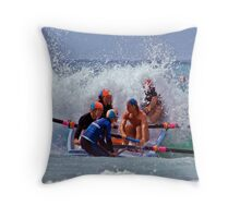 Fairhaven hits the soup Throw Pillow