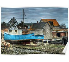 Port Maitland Fishing Boat Poster