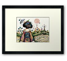 Topiary Teapot Framed Print