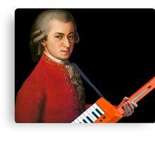 Mozart with a keytar Canvas Print