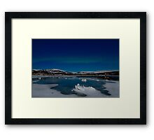Icy world Framed Print
