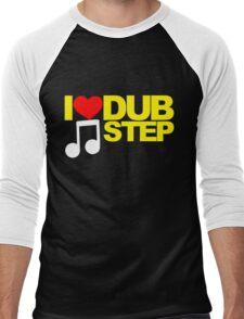 I LOVE DUBSTEP (YELLOW)  Men's Baseball ¾ T-Shirt