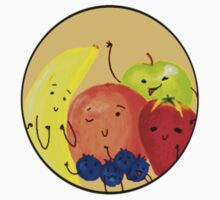 Fruit Family Portrait Baby Tee
