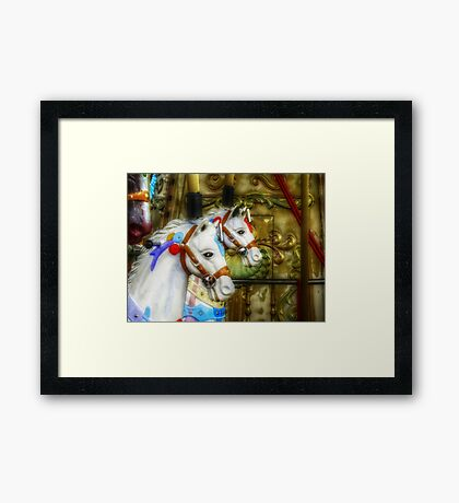 Carousel Horses in Kissimmee, FL Framed Print
