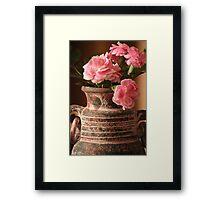 Carnation Pottery Framed Print