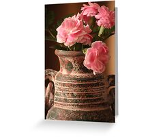 Carnation Pottery Greeting Card