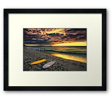 Last Glow of the Golden Sun Framed Print