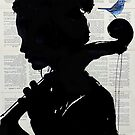 the cello player by Loui  Jover