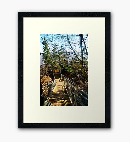 Descending Framed Print
