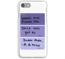 Weeds and Flowers ~ A.A Milne iPhone Case/Skin