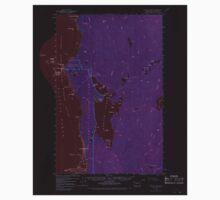 USGS Topo Map Washington State WA Ozette Lake 243050 1956 62500 Inverted One Piece - Long Sleeve