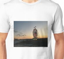 February Jersey City, New Jersey, Classic Colgate Clock at Sunset  Unisex T-Shirt