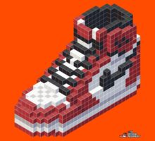 3D 8-bit Air Jordan 1 Kids Clothes