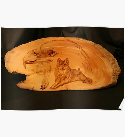 PYROGRAPHY: The Eagle & The Wolf Poster