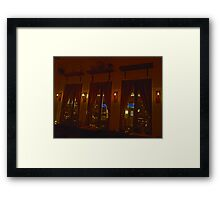 Tavern Windows Framed Print