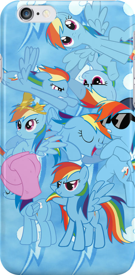 Rainbow Dashed iPhone Case by SilverPonyWare