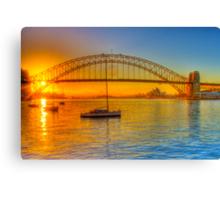 Sydney Harbour bridge - gold to blue Canvas Print