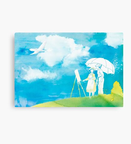 Watercolor Decor ft The Wind Rises  Canvas Print