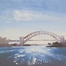 Afternoon sparkle, Sydney Harbour by Tash  Luedi Art
