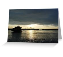 Boats - Ferry Boat Greeting Card