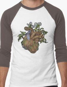 Heart - Wood Men's Baseball ¾ T-Shirt