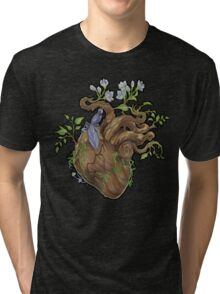 Heart - Wood Tri-blend T-Shirt